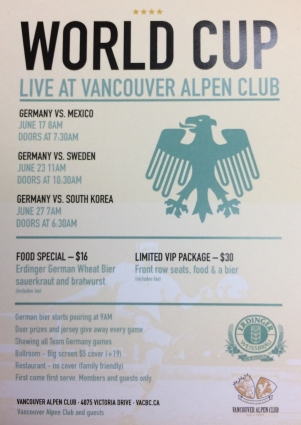 Vancouver Alpen Club, World Cup, LIVE Broadcast