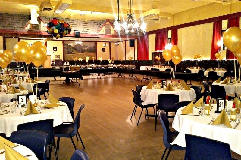 Vancouver Alpen Club · Event Location · Function Room · Ballroom · ideal for big events, dances, weddings · room setup